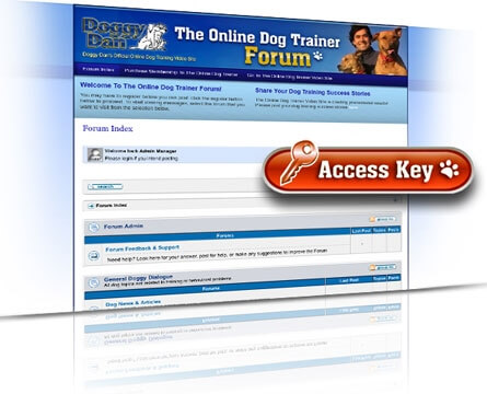 Doggy Dan's Online Dog Trainer Forum Access