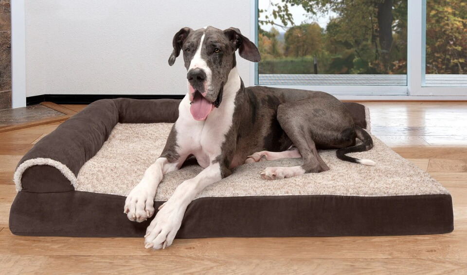 FurHaven Deluxe Chaise Lounge Dog Bed