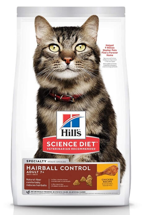 Best Dry Cat Food For Senior Cats - Hill's Science Hairball