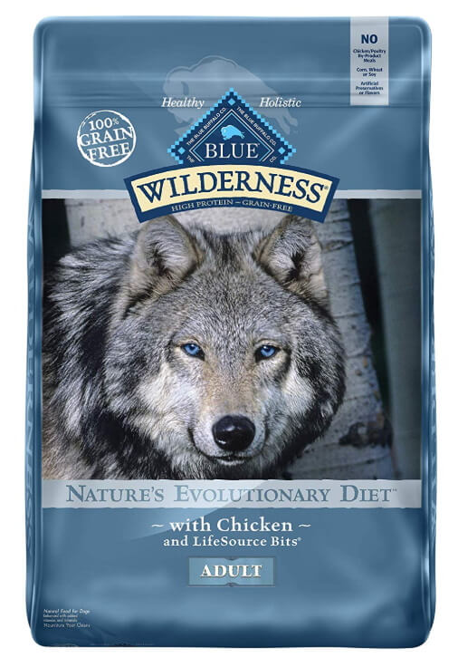 Bag of Blue Buffalo Wilderness Grain-Free Dog Food