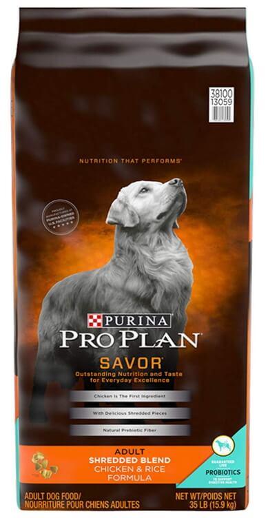 Bag of Pruina Pro Plan SAVOR Dog Food