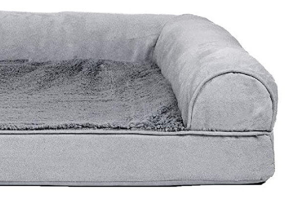 Dog bed bolster example