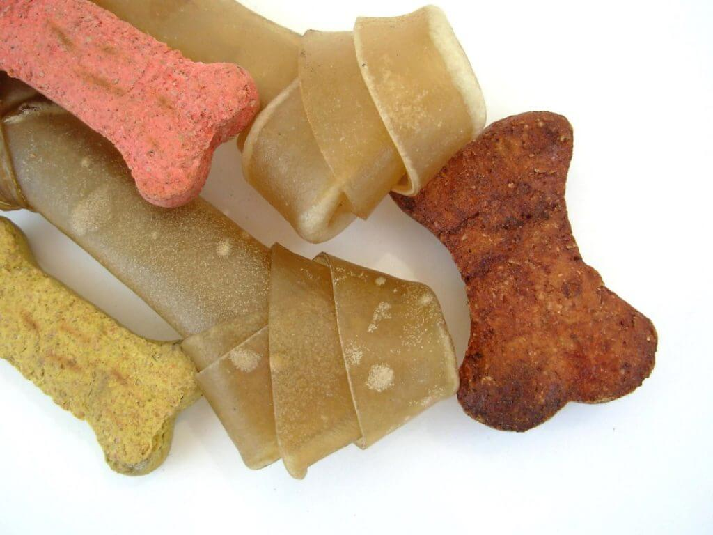 Dog chews and treats sample