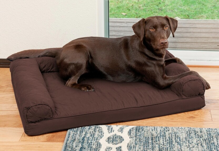 FurHaven Quilted Sofa Pet Bed
